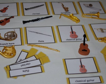 Musical Instruments matching activity