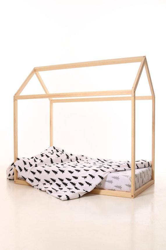 Kids kinderkamer bed houten huis kinderen bed huis houten - Houten bed ...