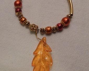 Memorie wire bracelet, in fall colors,