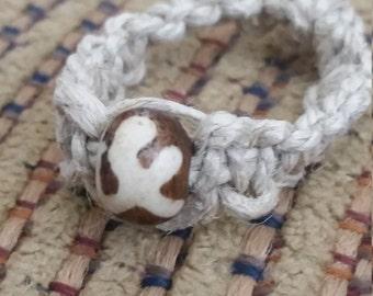 Hemp Ring with wishing bead