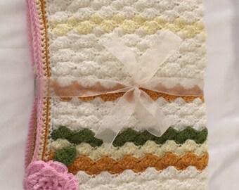 "Baby Cot/Pram Blanket Size 40""x26"""