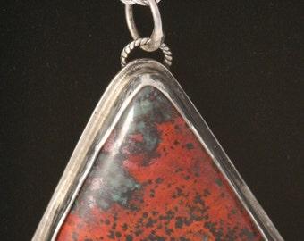 Handmade Sonoran Sunset Red Pendant