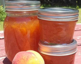 16 oz SUMMER'S PEACH JAM One Pint