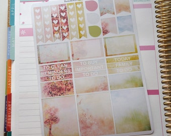 March Winds Neutral Weekly Sticker Kit  / Perfect for vertical Erin Condren Life Planner