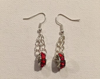 RHINESTONE RED CHAINED