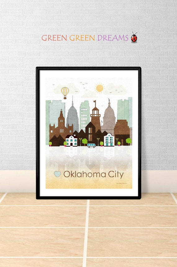 Oklahoma City Print Poster Wall Art Oklahoma By Home Decorators Catalog Best Ideas of Home Decor and Design [homedecoratorscatalog.us]