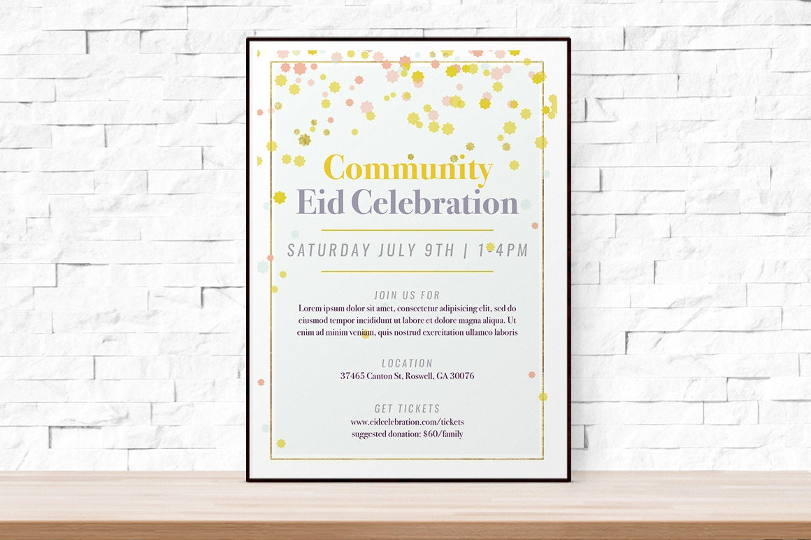 DIY Printable Event Flyer Template, Formal Gala Invitation, Word ...