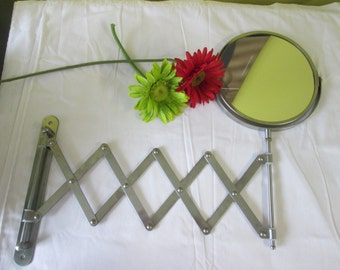 Vintage mirror expandable / stretchable mirror Vintage