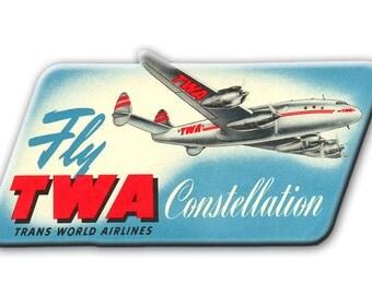 TWA Airlines Constellation Logo Fridge Magnet (LM14068)