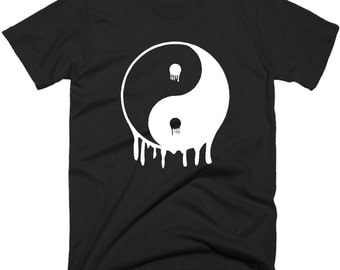 Dripping Yin Yang  T Shirt, Yoga T-Shirt, Tee Shirts In 5 Sizes And Color Choice.