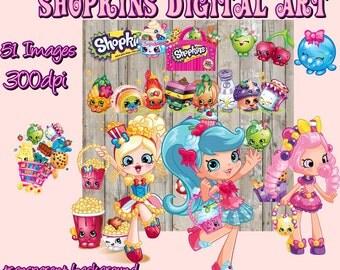 Shopkins Digital ClipArt