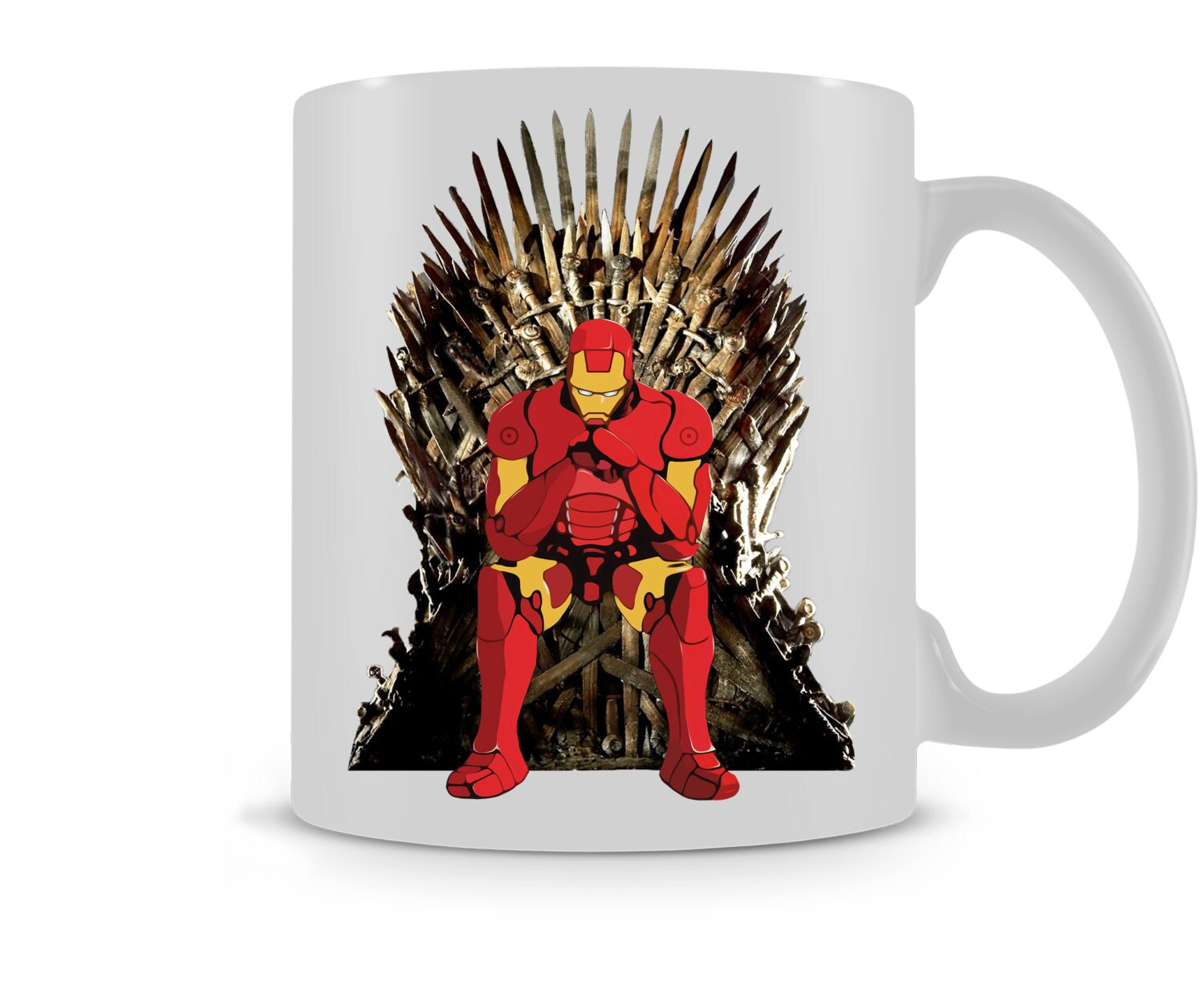 Game of thrones inspired iron man funny mug gift cup for Game of thrones gifts for men