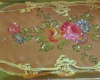 Alcohol serving tray with four matching plates