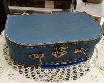 Old box couture blue cardboard - 12268 suitcase