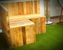 Rustic, Reclaimed Wood, Recycled Pallets, Garden Furniture, Custom Made, Wooden Seating, Outside Furniture, Beer Garden, Cafe, Bar, Seating