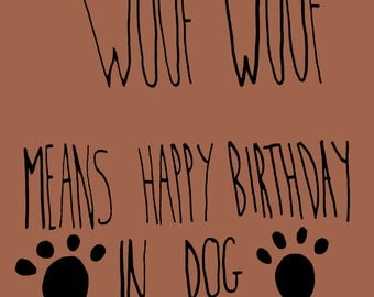 Birthday Card from the dog!