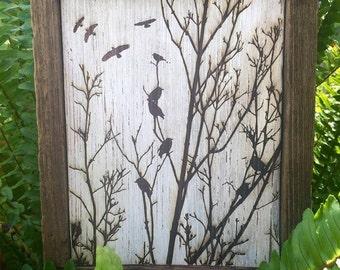 Engraved Rustic Distressed wood...