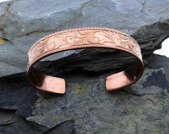 engraved copper cuff  western copper cuff boho copper cuff hand engraved stacking bracelets copper jewelry gift idea gift for her