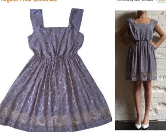 SALE 25% OFF Lilac & Lace Summer Dress