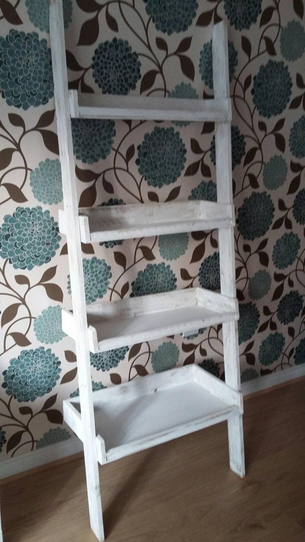 rustic ladder style shelf. Black Bedroom Furniture Sets. Home Design Ideas