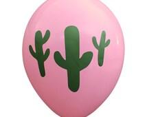 Cactus on Bubblegum Pink Party Balloons (Pkg of 3) - PB1134
