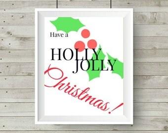 Holly Jolly 8x10 Printable,