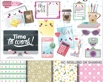 80%OFF - Office Stuff Clipart, Office Stuff Graphics, COMMERCIAL USE, Office Supplies, Planner Accessories, Office Things, Meeting
