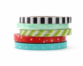Image result for thin flower washi tape set