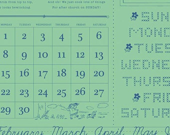 Calico Days by Lori Holt for Riley Blake Designs - C6031 Week Days Mint - 1/2 yard
