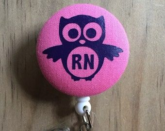 Owl - RN/ Initials - Badge Reel