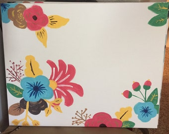 Customizable flower painting
