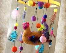 Rooster Baby Mobile, Carnival of Colours, makeforgood.