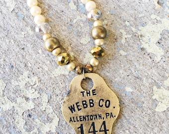 144 // Handmade Repurposed Vintage Necklace