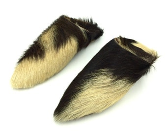 Multicolored Short Fur Babouche Slippers