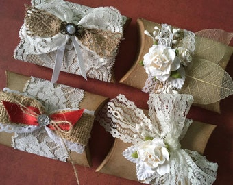 set of 4 handmade vintage rustic gift favour boxes for any occasion