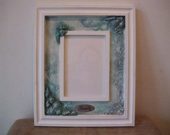 wooden photo frame with fancy decoration,beach photo frame,marine photo frame,