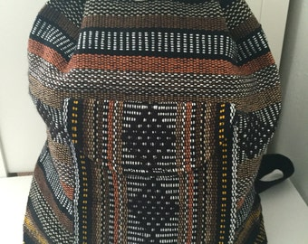 Artisanal Woven Mexican Backpack