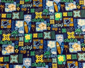 Hawaiian handmade baby blanket