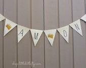 Where the Wild Things Are First Birthday Banner,  I am One Banner, 1st Birthday Banner, Wild One, First Birthday Photo Prop, Cake Smash Prop