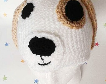 Crochet Dog Hat, Novelty Hat, Dog Costume, Winter Hat, kids hat, gift for children, baby hat, beanie with a dog, dog face hat, birthday gift