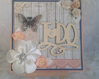 Rustic Meets Chic Wedding Card