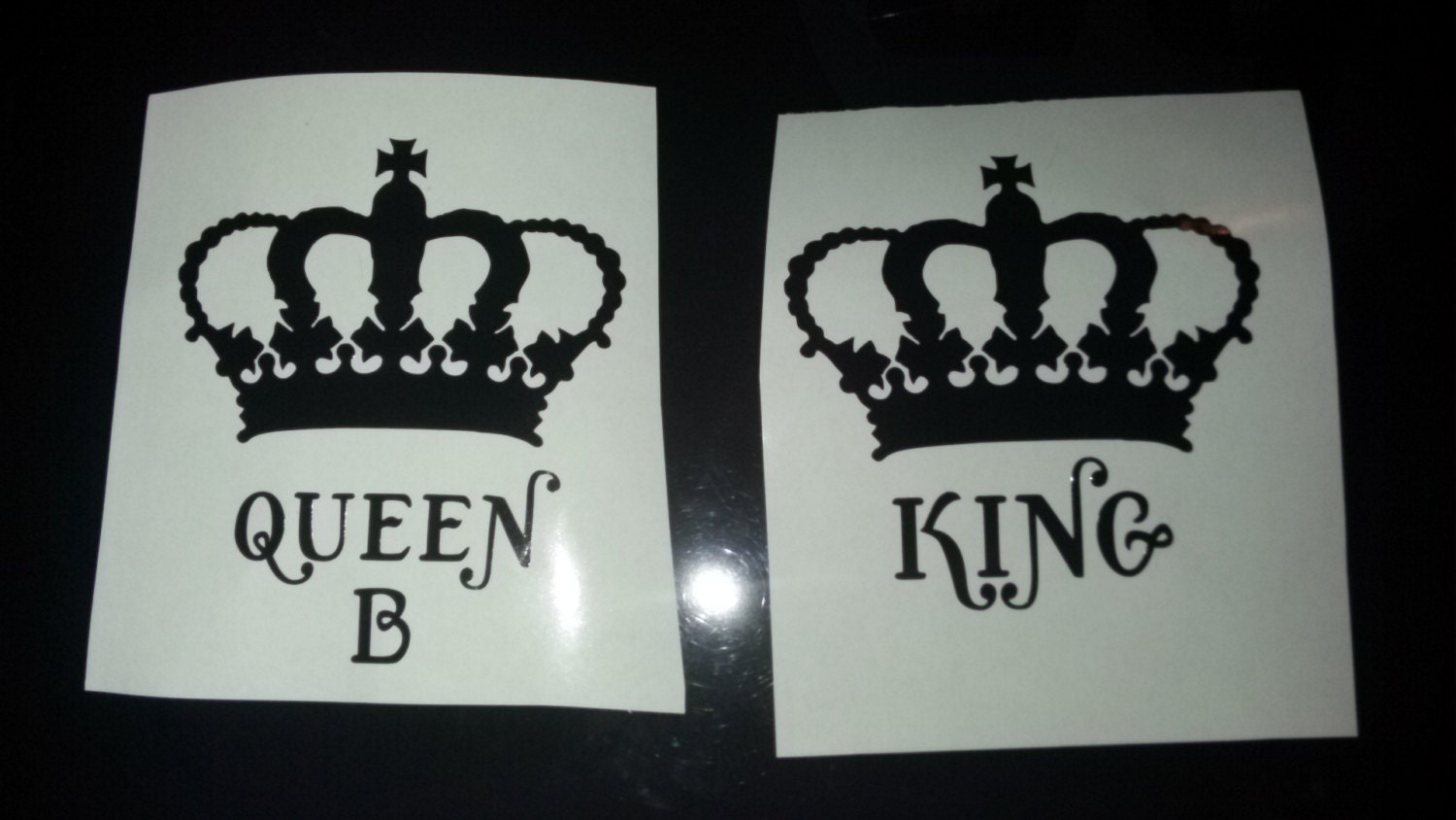 Heiness Decals Queen B Decal Crown Queen Decal Bumper