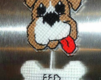 Dog Feed Me Reminder Fed/Not Fed Pet Magnet Sign