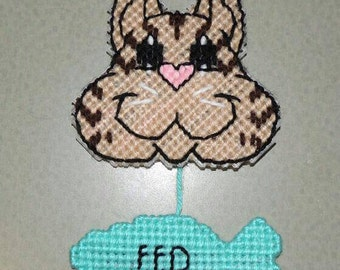 Cat Feed Me Reminder Fed/Not Fed Pet Magnet Sign