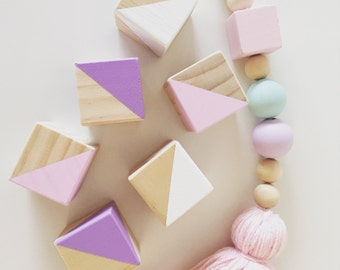 Handmade Wood Baby Stacking Blocks Nursery Decor (6)