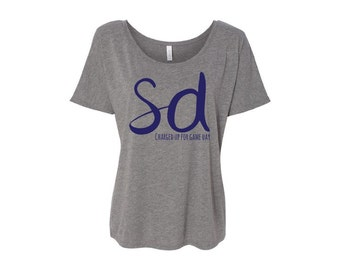OFF-SHOULDER- San Diego Chargers San Diego Sports Sports Fan Sports Attire Sports Apparel San Diego Fan Women's Clothing