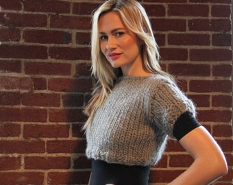 Fitted Crop Top Knitting Pattern
