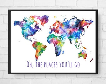 Oh, the places you'll go digital print