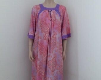 womens  soft cotton mix summer dress- purple