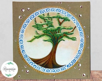 Tree of life, Original Acrylic painting, OOAK, Wall décor, Wall art, Nature art